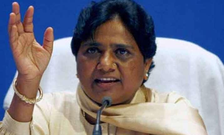dalits feeling insecure under bjp govt mayawati