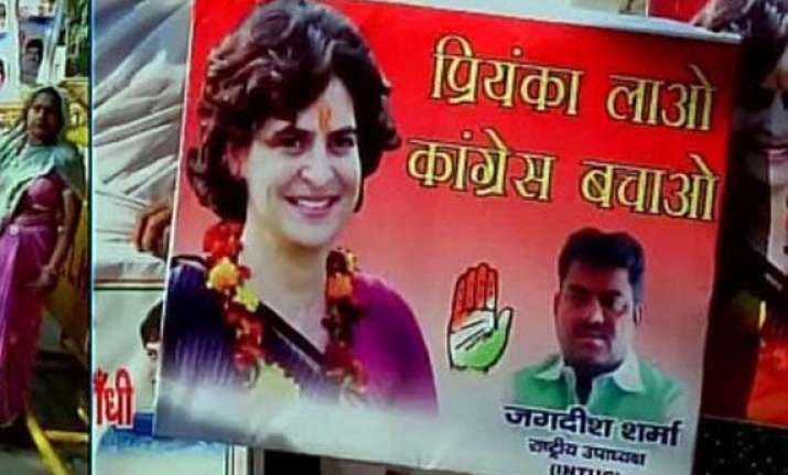 call for priyanka lao congress bachao gets louder in
