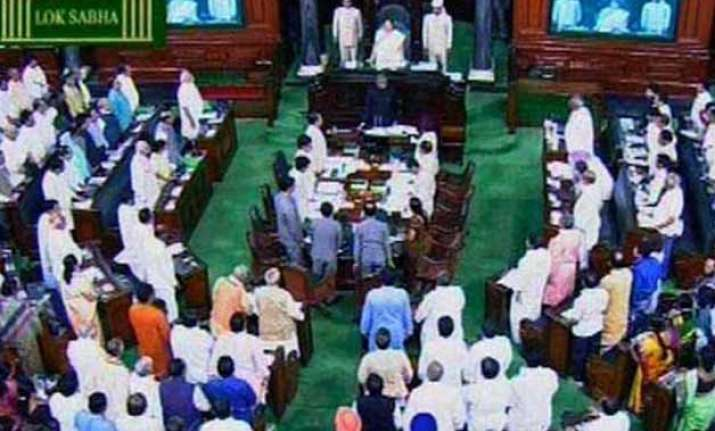 opposition ruckus over farmer s suicide forces lok sabha to
