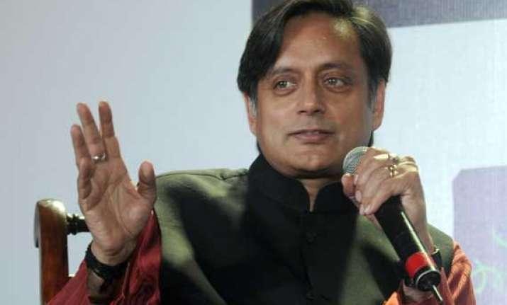 tharoor flays pm for plan to visit srinagar on diwali