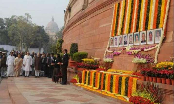 pm modi pays tribute to martyrs of 2001 parliament terror