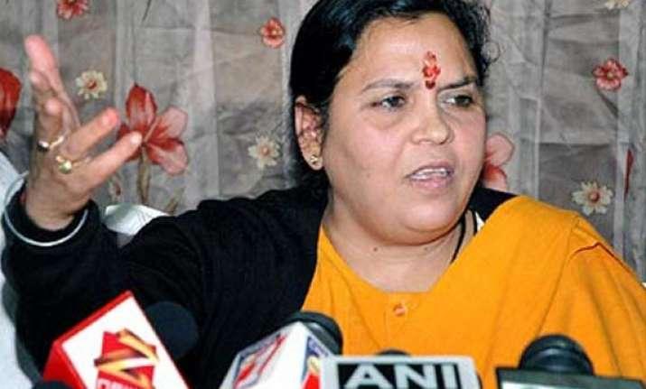 uma bharati participates in run for unity in up