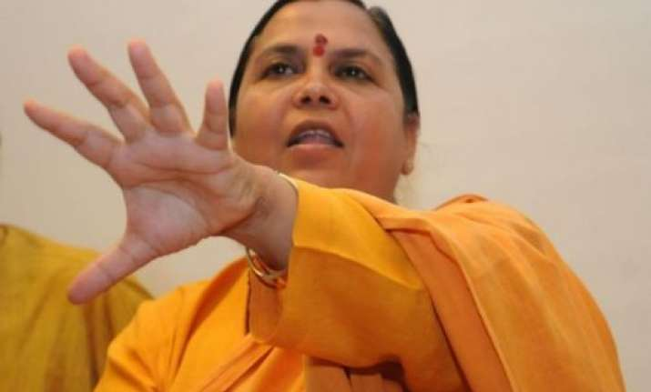 uma bharati to inspect tomorrow 25 drains falling into ganga