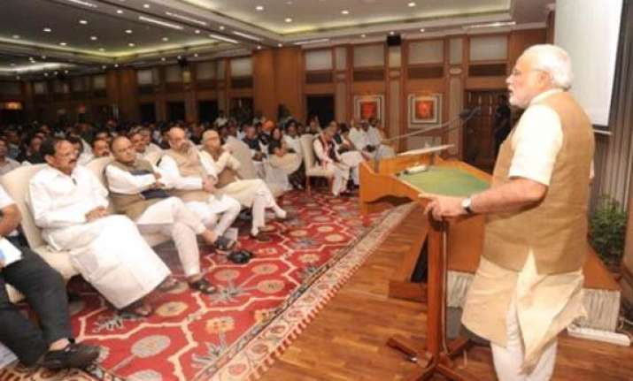 be a symbol of positive political entity pm tells nda mps