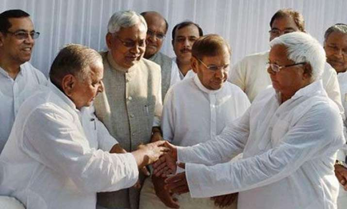 bihar polls samajwadi party begins indefinite fast against
