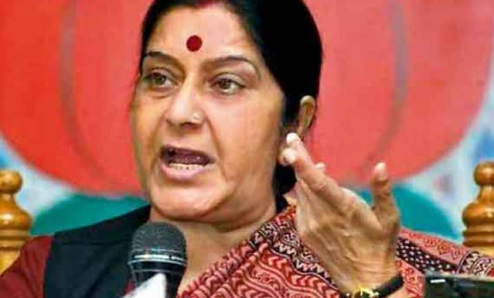indians in iraq safe says sushma swaraj meets envoys of
