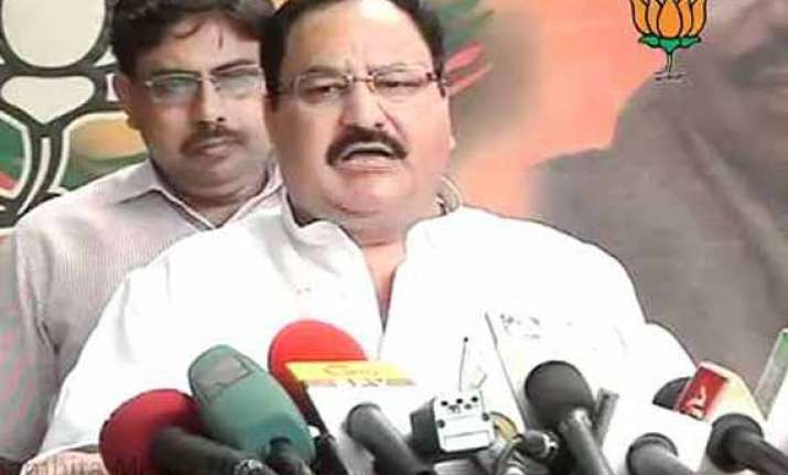j p nadda front runner for bjp president s post