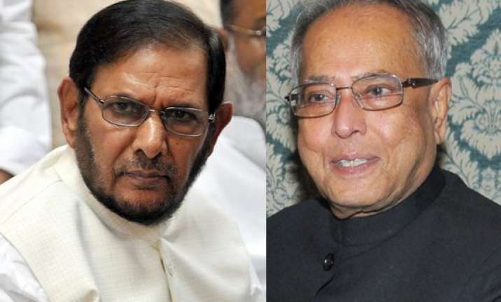 jd u support is for mukherjee not upa says sharad yadav