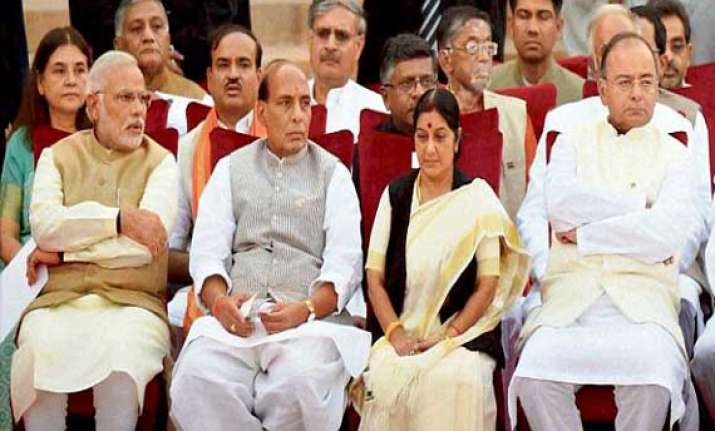 jaitley is big player after modi rajnath gets home sushma