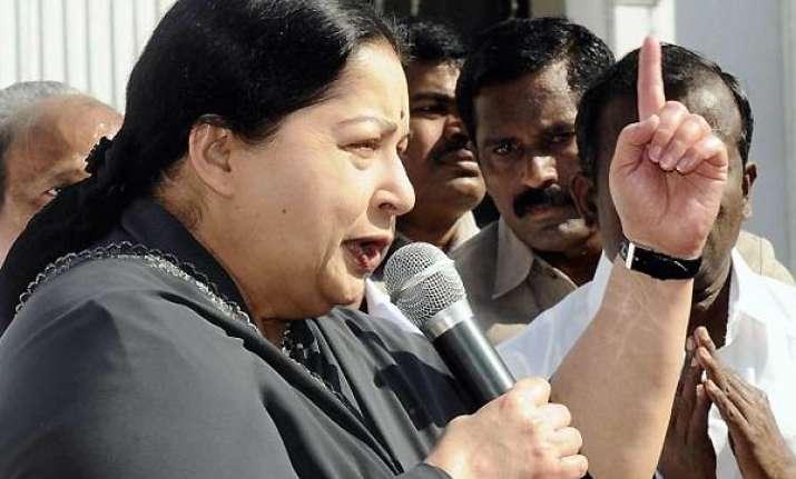 jaya alleges dmk spent rs 5 000 cr in tn polls