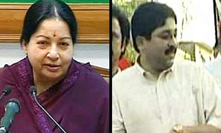 jaya won t quit then why should maran asks dmk