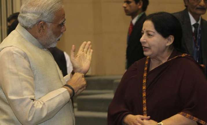 jayalalithaa greets modi on his elevation as bjp campaign