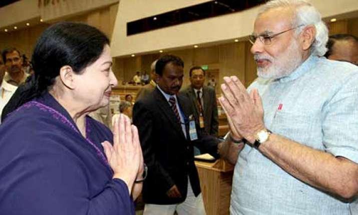 jayalalithaa congratulates modi