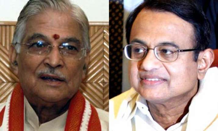joshi demands removal of chidambaram