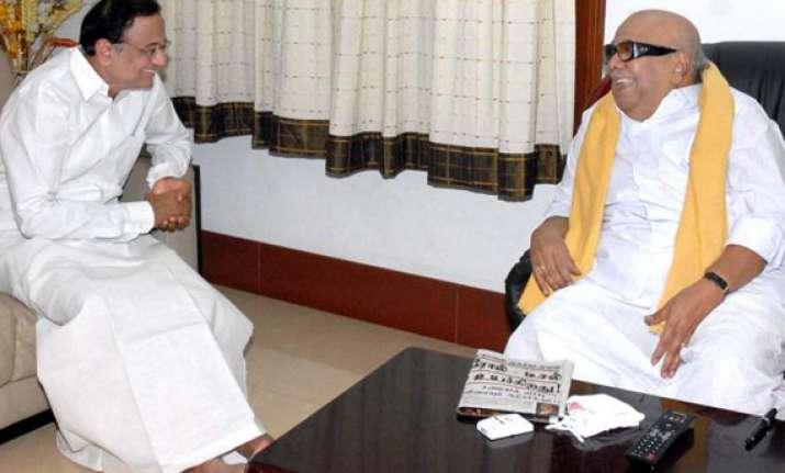 karuna slams demand for chidambaram s resignation