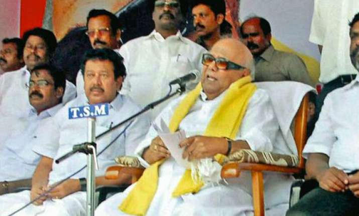 karunanidhi flays modi for attacking dmk