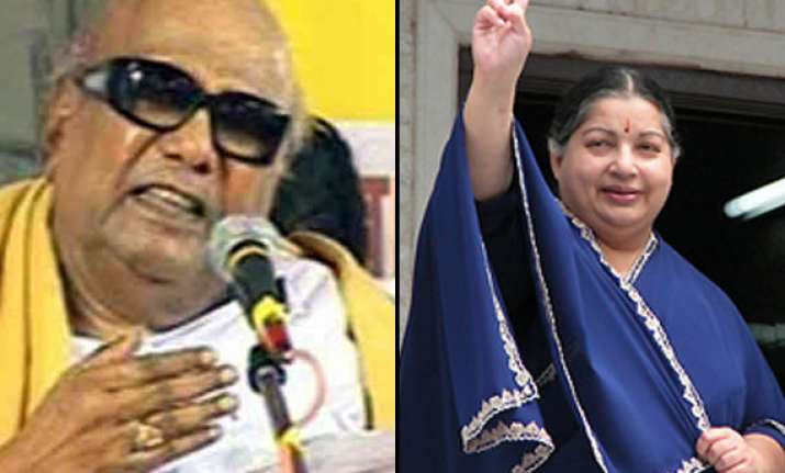 karunanidhi slams left for projecting jayalalithaa as pm