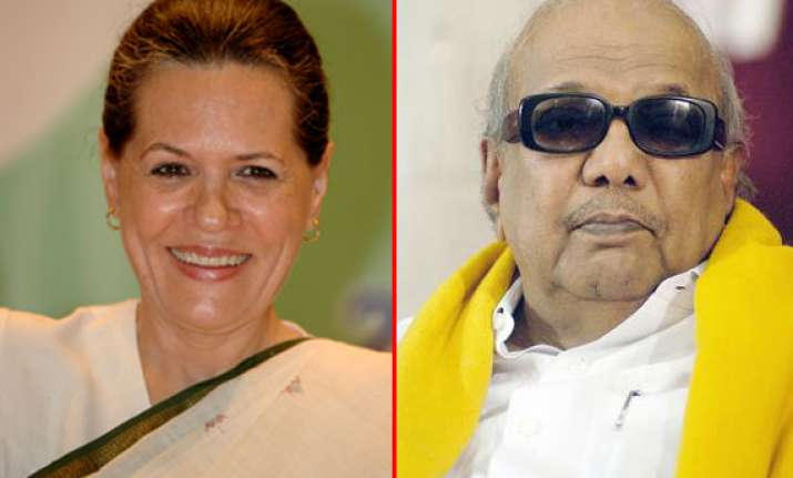 karunanidhi thanks sonia gandhi for support to kanimozhi in