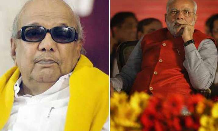 karunanidhi warms up to modi says he is hard working and a