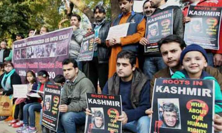 kashmiri pandits protest omar s remark on their exodus