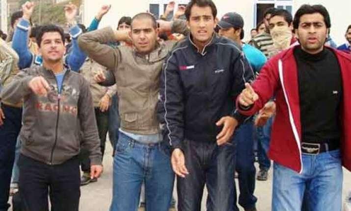 kashmiri students beaten forced to shout anti pak slogans