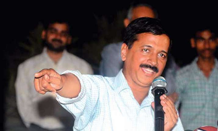 kejriwal says one of sunday s protesters was bjp office