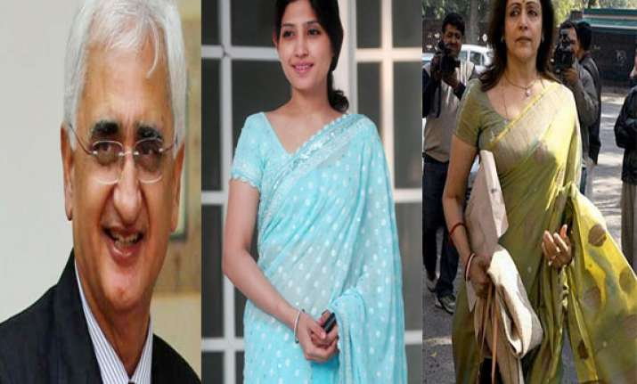 khurshid dimple yadav hema malini file nominations