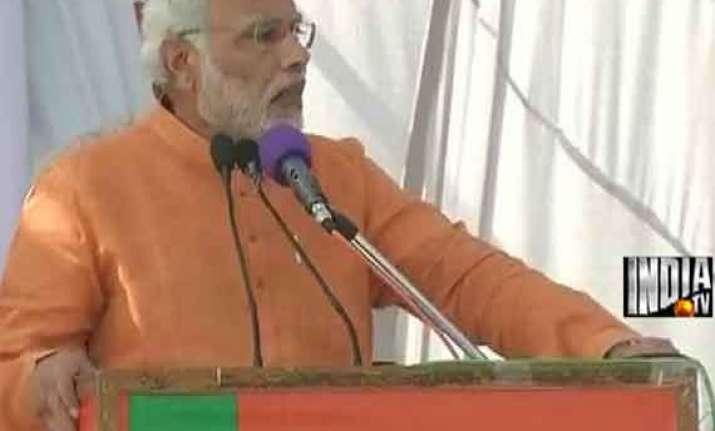 live narendra modi calls for debate on art 370 at jammu