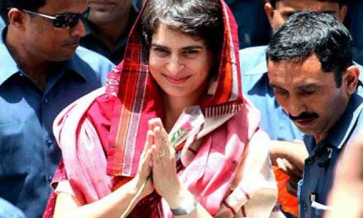 live modi should maintain dignity says priyanka in amethi