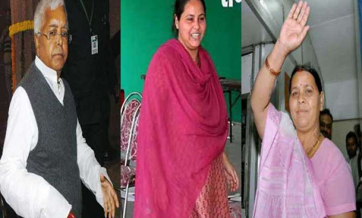lalu prasad s wife daughter in rjd s first list of