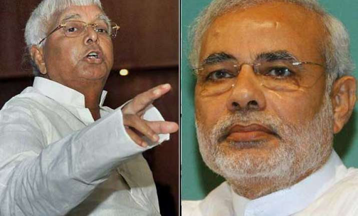 lalu calls modi advani s chela vows to stop him