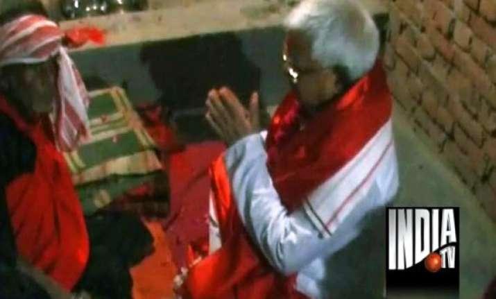 lalu performs tantric rituals at pagla baba ashram in