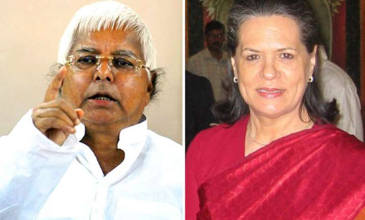 lalu to go along with sonia s choice