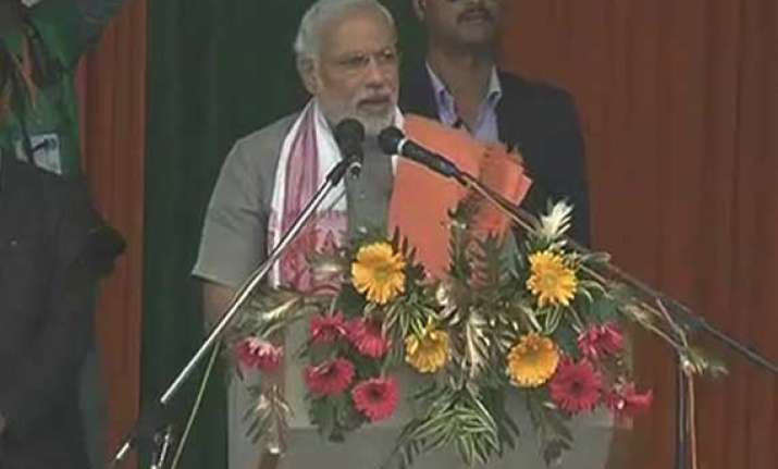 live reporting modi addresses chennai rally