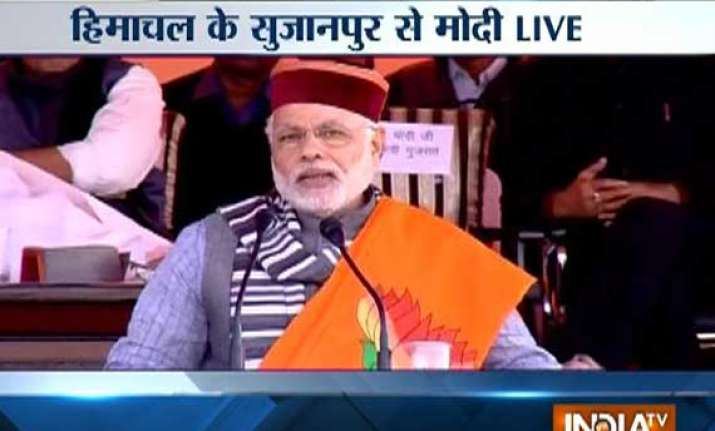 live reporting modi blasts congress over price rise and