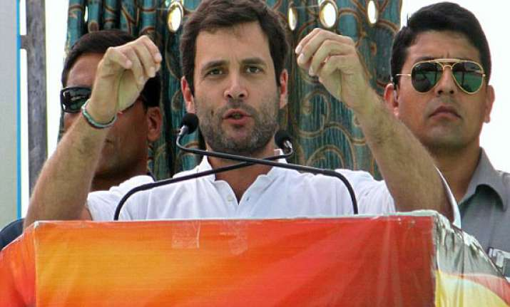 live reporting rahul says bjp works for rich congress works
