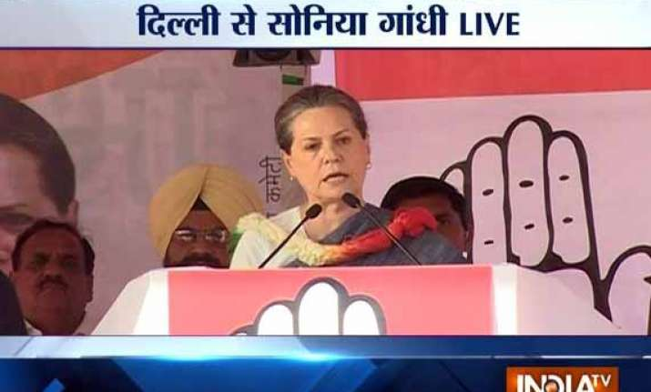 live sonia accuses kejriwal of running away from