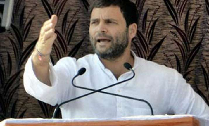 modi has destroyed gujarat s farmers says rahul