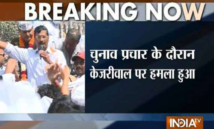 live kejriwal slapped during road show attacker says he was
