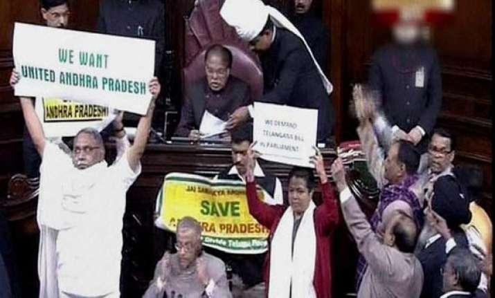 live reporting telangana bill passed in rajya sabha