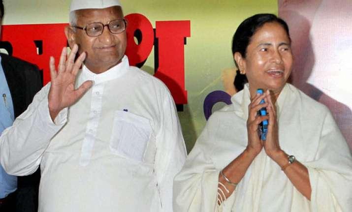 live mamata slams narendra modi downplays anna s absence at