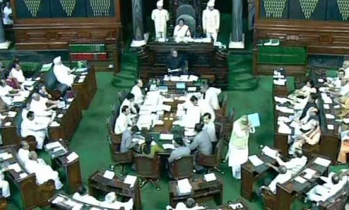lok sabha adjourned over vadra land deals kishtwar violence