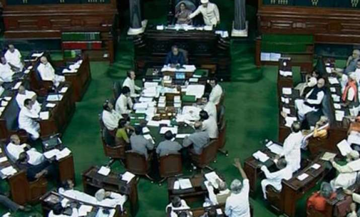 lok sabha disrupted over rupee