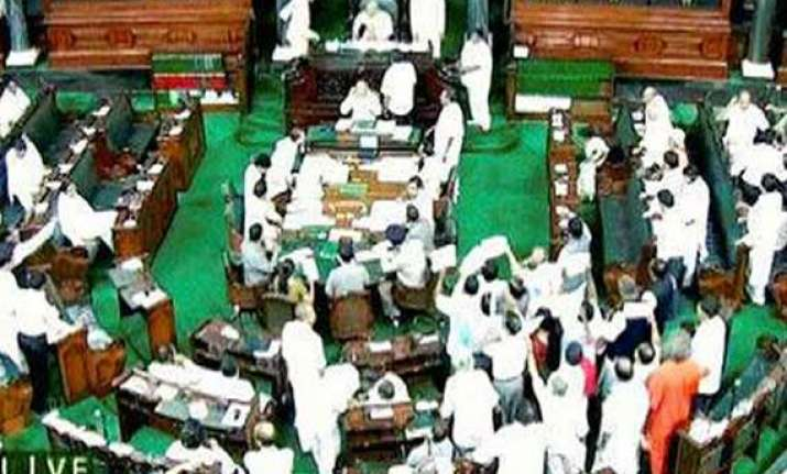 lok sabha looked like a battleground during passage of