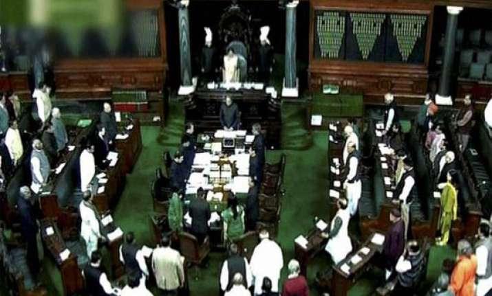 bjp disrupts ls proceedings demands reply on afzal guru
