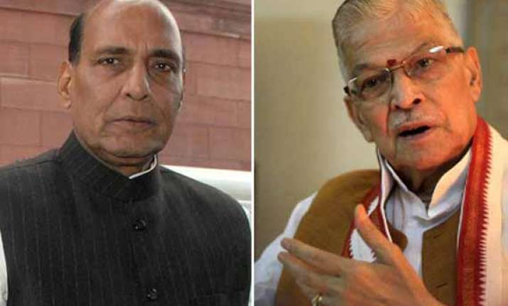 m m joshi in spat with bjp chief rajnath singh at party