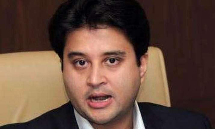 mp govt misleading people on electrification scheme scindia