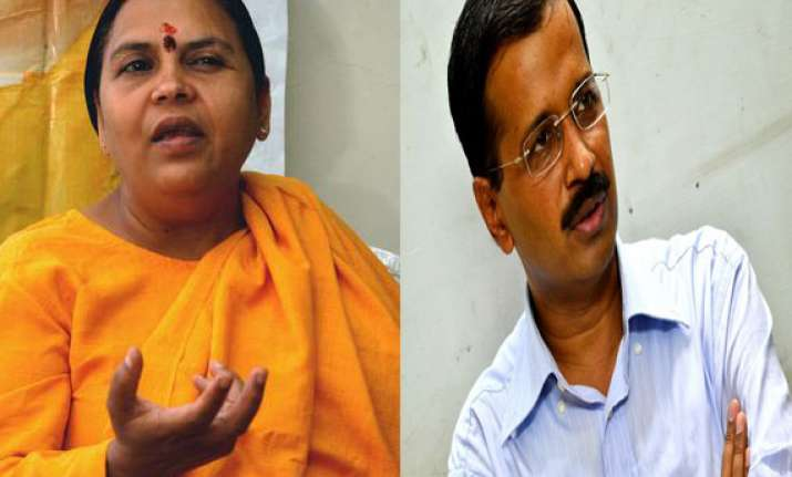 magic of kejriwal over uma bharti