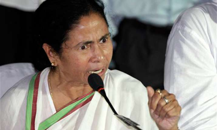 mamata charges cpi m cong bjp with conspiracy to stall poll