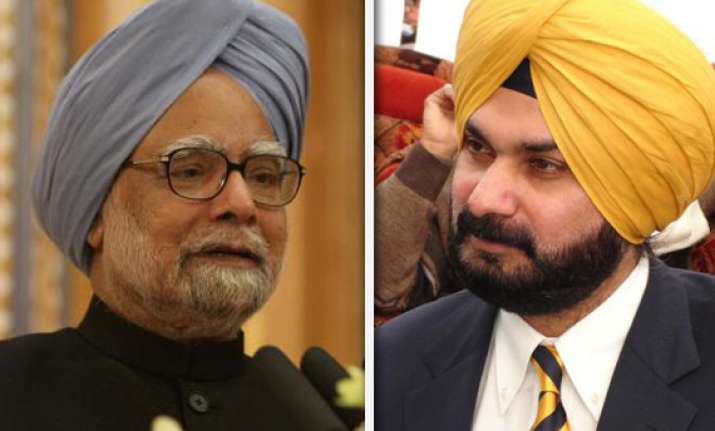 manmohan the honest king of a corrupt regime says sidhu